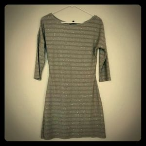 Express 3/4 sleeve mini dress with sequins